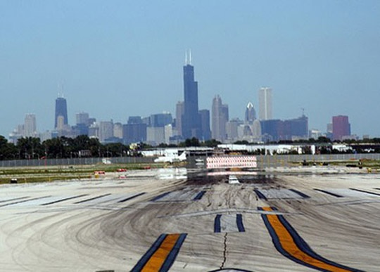 The chicago area, featuring chicago midway and ohare international airports